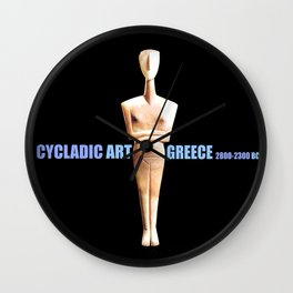 CYCLADIC ART Wall Clock
