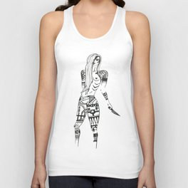 armed one of three  Unisex Tank Top