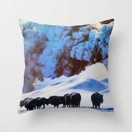 Buffalo Blast Throw Pillow
