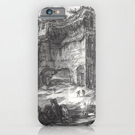 Giovanni Battista Piranesi - The baths fo Trajan (Erroneously called baths of Titus) iPhone Case