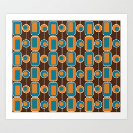 Orange Square Art Print