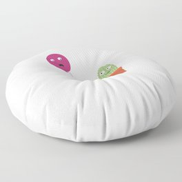 Cactus in love with balloon Floor Pillow