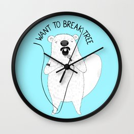 Beaver singing Queen | Animal Karaoke | Illustration | Blue Wall Clock