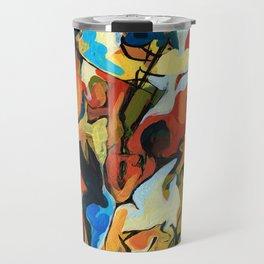 Abstract Musicians Painting Travel Mug
