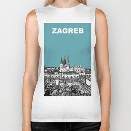 Zagreb Croatia Vintage Travel Posters Biker Tank