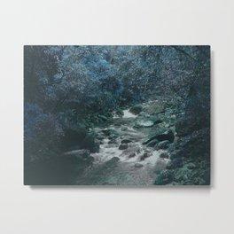 Mossman Gorge in Blue Metal Print