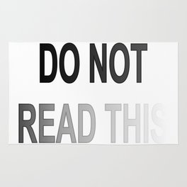 Do Not Read This 02 Rug