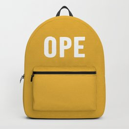 OPE Mustard Backpack