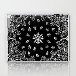 black and white bandana pattern Laptop & iPad Skin
