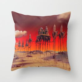 -Caravan Dali- RED Throw Pillow