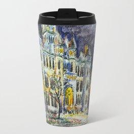 Carthage Courthouse in Ink Travel Mug