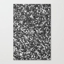 Dazzling Sparkles (Black and White) Canvas Print