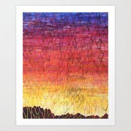 Desert Sunset Pattern Art Print