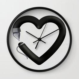 Love to write Wall Clock