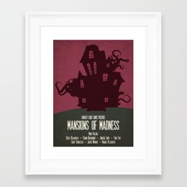 Mansions of Madness - Minimalist Board Games 04 Framed Art Print