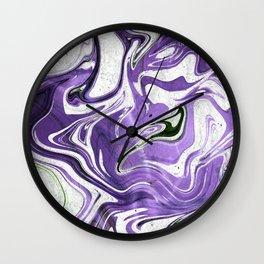 Ultraviolet Marble Wall Clock