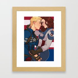 The Captain and Her Boyfriend  Framed Art Print