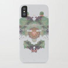 Inkdala IV - Green and Purple Rorschach Art iPhone X Slim Case