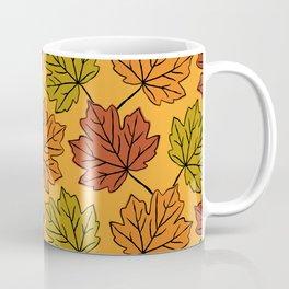 Maple Leaves Pattern Coffee Mug