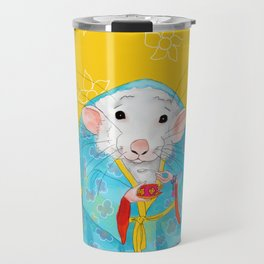Stay Calm and Meditate with Stu the Rat Travel Mug