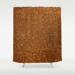Soft Rose Gold Glitter Shower Curtain