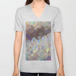 Iridescent Aura Crystals Unisex V-Neck
