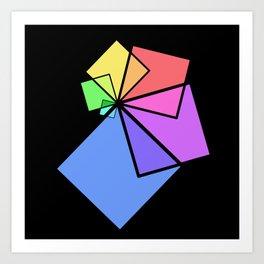 moving squares -12b- Art Print