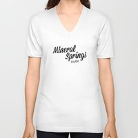 mineral V-neck T-shirts featuring Mineral Springs by Parks of Seattle