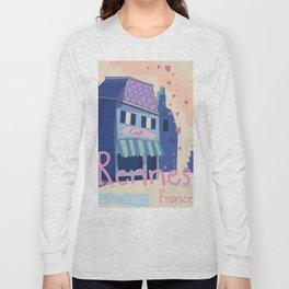 Rennes France Cartoon travel poster Long Sleeve T-shirt