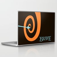 be brave Laptop & iPad Skins featuring Brave by Citron Vert