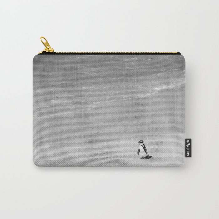 Lone African Penguin walking on beach Carry-All Pouch
