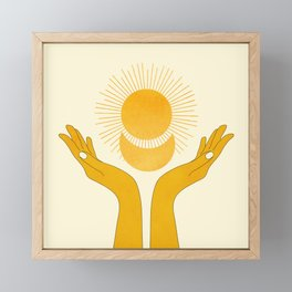 Holding the Light Framed Mini Art Print