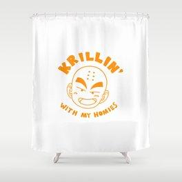Krillin With My Homies Shower Curtain