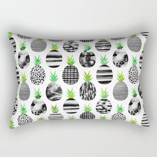 Black & White Pineapples Rectangular Pillow