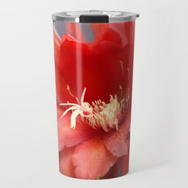 Jungle Cactus Red Travel Mug