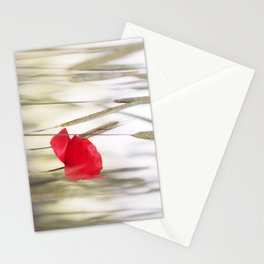 Poppy Abstract Stationery Cards