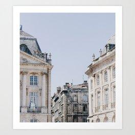 Bordeaux Blue Art Print