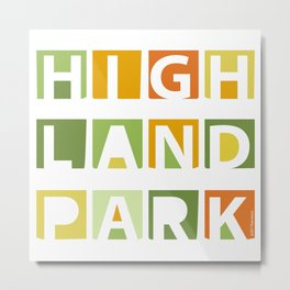 Highland Park Sign Metal Print