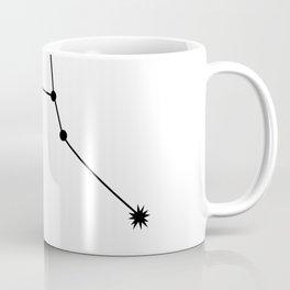CANCER (BLACK-WHITE STAR SIGN) Coffee Mug