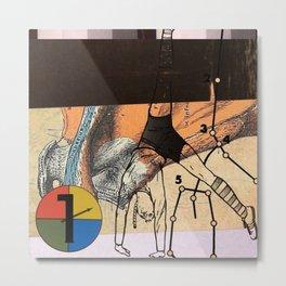 elastic subject Metal Print