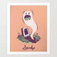 Spooky Ghostie Art Print
