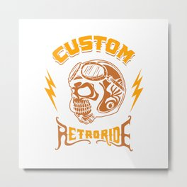 Custom RetroRide Metal Print