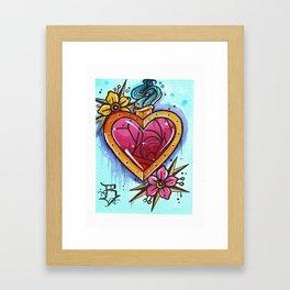the crystal blossom gold heart Framed Art Print