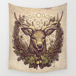 Cernunnos Stag Wall Tapestry
