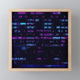 Cyberpunk Apartments Framed Mini Art Print