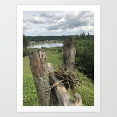 View from the hill fort Art Print