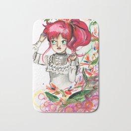 Sailor Jupiter Orange Flower Bath Mat