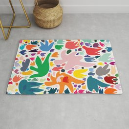 Colorful Joyful Pattern Abstract Rug