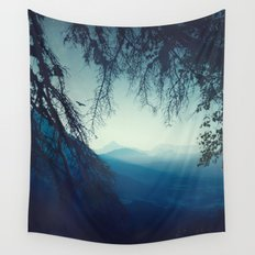 blue morning - vertical tapestry Wall Tapestry