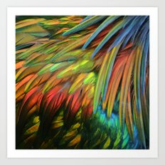 Color in Birdworld Art Print